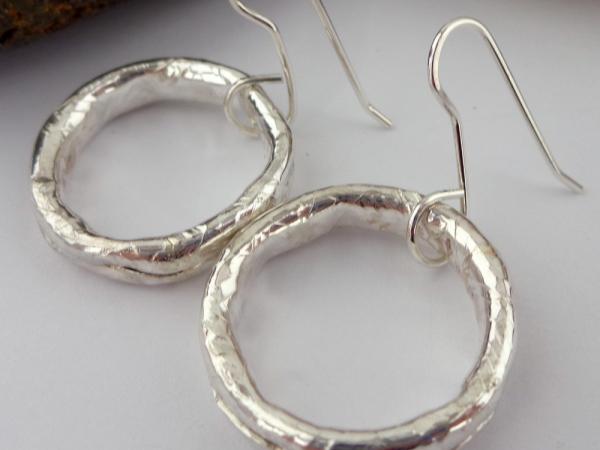 Hollow Sterling Silver Pattern Hoops