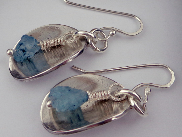 Sterling Silver and Aquamarine Earrings