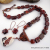 Artisan Marble Pendant with Brecciated Red Jasper Necklace and Earrings