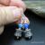 Denim Lapis Lazuli and Sterling Silver Earrings