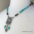Turquoise Labradorite and Artisan Pewter Horse Pendant Necklace