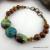 Hubei Turquoise and Wood Bead Bracelet