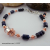 Lapis Lazuli Mixed Metal and Handmade Spinner Bead Adjustable Bracelet
