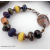 Rustic Artisan Glass Beads and Copper Bracelet