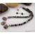 Silver Leaf Jasper Necklace and Earrings