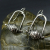 Sterling Silver Stirrup Earrings-  No. 2
