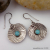 Textured Sterling and Amazonite Earrings