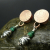 Turquoise Silver and Copper Hollow Bead Earrings