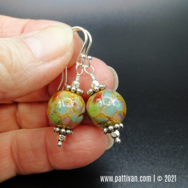 ES-14 Artisan Glass and Sterling Silver Earrings
