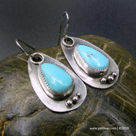 Campitos Turquoise Tear Drop Earrings