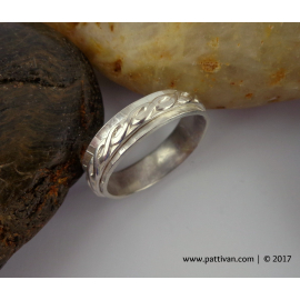 Double Banded Sterling Silver Ring
