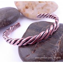 Four Strand Twisted Solid Copper Cuff