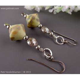 Artisan Pastel Speckled Lampwork with Handmade Sterling Beads Earrings