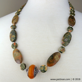 Rhyolite Necklace and Earrings Set