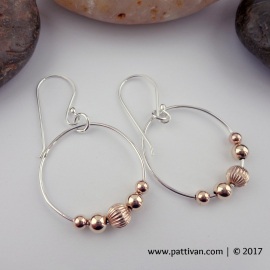 Sterling Silver and Gold Hoops