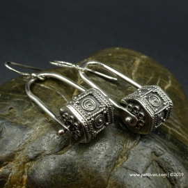 Sterling Silver Stirrup Earrings-  No. 3