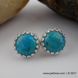 Turquoise and Sterling Silver Stud/Post Earrings