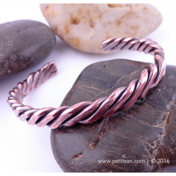 Four Strand Twisted Solid Copper Cuff