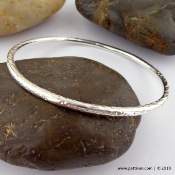Heavy Sterling Silver Bangle - 8 Gauge