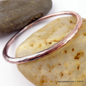 Thick Faceted Copper Bangle